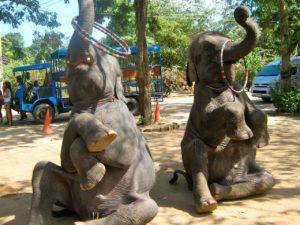 остров Пханган деревня слонов
