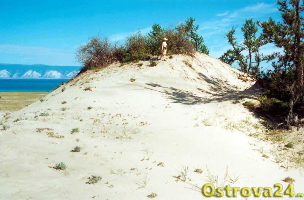 песчаные дюны острвоа Ольхон