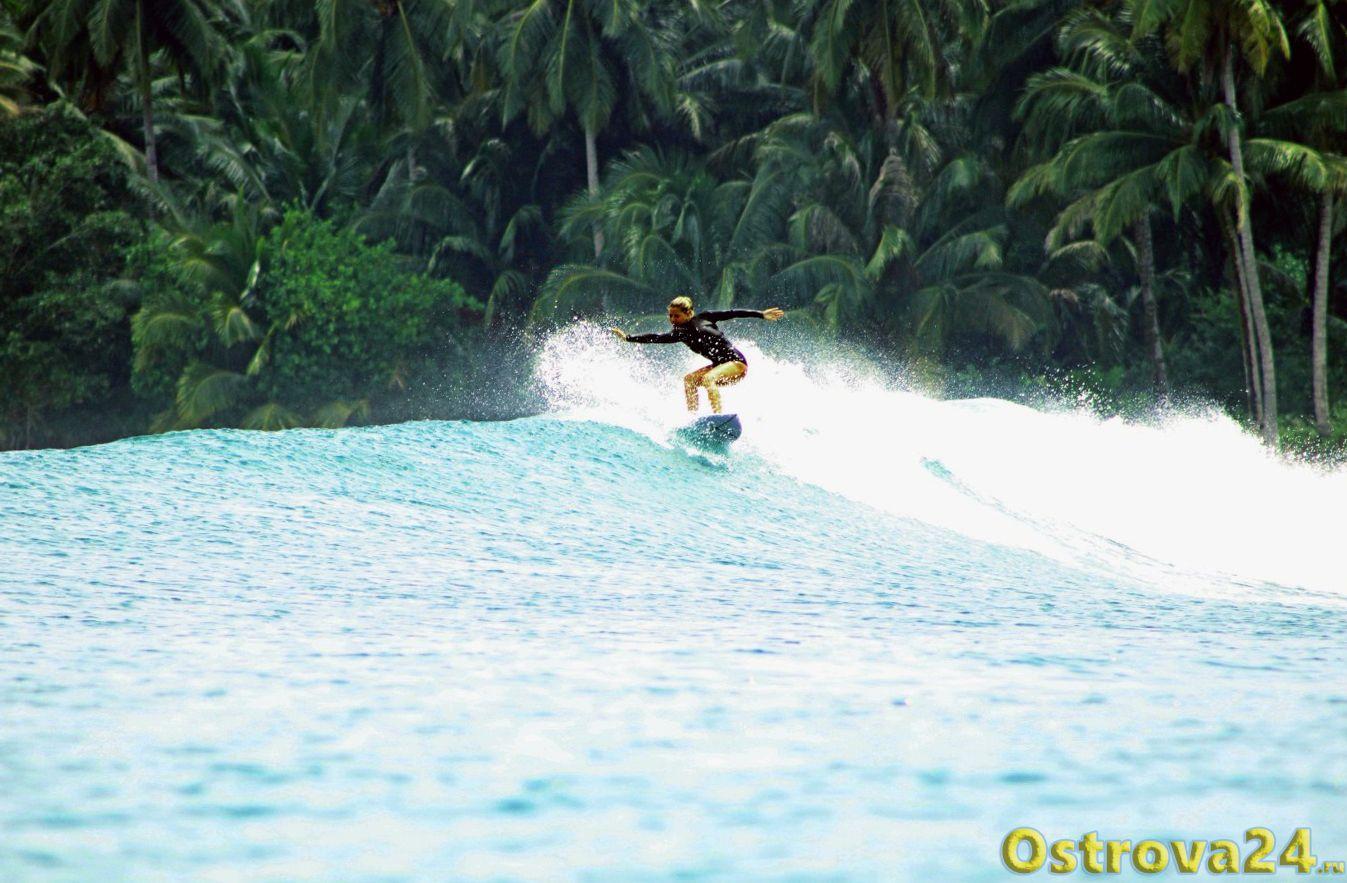 Сёрфинг на южном побережье острова Ломбок