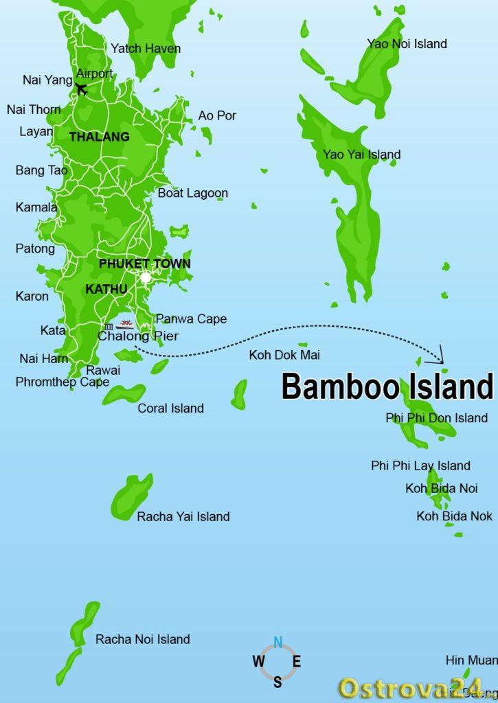 Как добраться до острова Бамбу